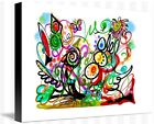 Before Spring - Abstract painting image on wrapped canvas, by Galina