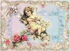 Whimsy Dust Angel & Roses Crazy Quilt Block Multi Sz FrEE ShiP WoRld WiDE (W33