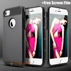 For iPhone 7 7 Plus Case Cover Silicone Rubber Shockproof Hybrid Skin Hard Black