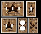 RUSTIC BARN STAR HOME SWEET HOME  BROWN TONES  LIGHT SWITCH COVER PLATE