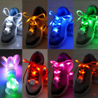 Hot 3 Mode RGB For Man Woman Kids LED Light Shoe Laces Luminous Flash Shoelace