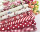 """(19""""x19"""") Red Fat Quarter Bundle Quilt Quilting 100%cotton Fabric Sewing DIY"""