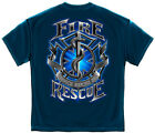 Firefighter T-Shirt Fire Rescue Black