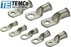 TEMCo Tinned Copper Lug Ring Terminals Battery Wire Welding Cable AWG <br/> Various Sizes and Gauge.  FAST FREE ship