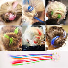 Rainbow Hair Clip Wigs Long Straight Synthetic Wig Cosplay Wigs Hair Decor