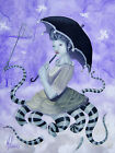 Catching Cupids by J.K. McGreens Surreal Octopus Creature Canvas Fine Art Print