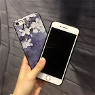Soft TPU Relief Case For Iphone 7 7 Plus 5 6 6S 6 Plus Gel 3D White Flower Cover