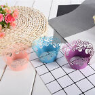 50 pcs Filigree Cupcake Wrappers Wedding Anniversary Birthday Party Wraps Cases