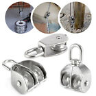 304 Stainless Steel Lifting Tackle Single Groove Rope Pulley Block M15 - M50