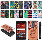 For ZTE Grand X 4 X4 Z956 Z957 Damon Hybrid Bumper Protective Case Cover + Pen