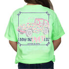 Southern Girl Prep YOUTH Living The Prep Life Jeep Short Sleeve T-shirt-Mint