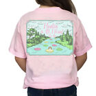 Southern Girl Prep YOUTH Floatin' Is All I Want To Do Short Sleeve T-shirt-Pink
