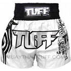 Tuff Muay Thai Boxing White Shorts 205 Kick Boxing Training Free Shipping