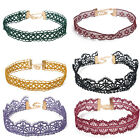 Women Girl Lace Gothic Retro Choker Collar Necklace Jewelry Flower Pendant Chain
