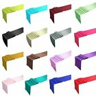 """12""""x108"""" Satin Table Runner Wedding Party Banquet Decorations 12 Colors"""
