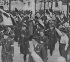 Fascist Demonstration March Rally Paris France Flags 1934 6x5 Inch Reprint Photo
