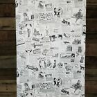 Classic Vintage News Ads Retro Black and White Traditional Old World Wallpaper