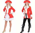 Ladies Napoleonic / Soldier Jacket - Red. Sizes 6- 22