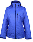Columbia Womens Nordic Point II Interchange Hooded Winter Jacket Omni Heat Blue