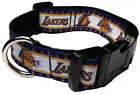 """LOS ANGELES LAKERS 1"""" PERSONALIZED PET DOG COLLAR"""