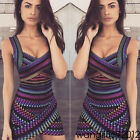 Fashion Women Sleeveless Bandage Bodycon Evening Party Cocktail Short Mini Dress