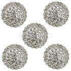 5 Faux Pearl Rhinrstone Buttons fit Sewing Embellishment with a single hole