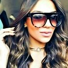 Women Ladies Fashion Oversized Flat Top Shadow Celebrity Designer Sunglasses