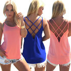 Easy Women Summer Vest Top Sleeveless Blouse Casual Tank Tops T Shirt Clubwear