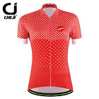 New CHEJI Women's Bicycle Cycling Jersey Short Sleeve Red Dots Clothing