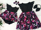 Toddelr Infant Kid Baby Girl Sister Matching Floral Lace Jumpsuit Romper Dress
