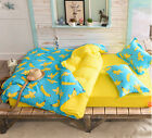 Yellow Banana Single Queen King Size Bed Pillowcase Quilt Cover Duvet Cover Set