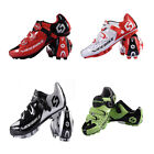 Mens Bicycle Racing Mountain Bike Sports SPD Lock Cycling Shoes Black Red