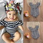Cute Newborn Baby Girls Striped Bodysuit Romper Jumpsuit Outfit Clothes 0-24M NW