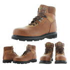 "Wolverine W04013 Men's 6"" Steel Toe Work Boots Leather 2E Wide Width Size 9.5"