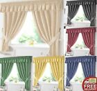 Gingham Kitchen Window Curtains OR Matching Pelmet (Valance)New