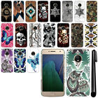 "For Motorola Moto G5 Plus 5.2"" Butterfly Design HARD Back Case Phone Cover + Pen"