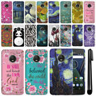 "For Motorola Moto G5 Plus 5.2"" Marble Design HARD Back Case Phone Cover + Pen"