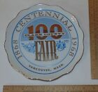 1968 CLARK COUNTY FAIR - CENTENNIAL PLATE - Vancouver, Washington - MAR NELL'S S