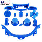 Custom RB LB ABXY Guide Dpad Buttons Parts For Xbox 360 Controller -Solid Blue