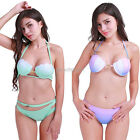 Womens Bikini Set Mermaid Shell Pearl Bra Swimwear Padded Push up Swimsuit Beach