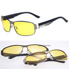 Night Vision Outdoor Sports Eyewear Driving Glasses Men's Alloy Frame Sunglasses