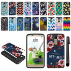For LG Stylus 2 Plus Stylo 2 Plus MS550 Hybrid Bumper Case Phone Cover + Pen