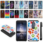 For ZTE Zmax Pro Carry Z981 Hybrid Bumper Protective Hard TPU Case Cover + Pen
