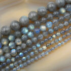 Natural Labradorite Round Beads 15.5