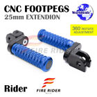 FRW CNC 6C 25mm Front Footpegs For MV Agusta 910R Brutale 07+ 07