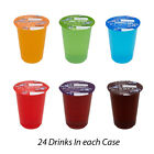 BIG TIME FLAVOURED CUP SOFT DRINKS 24 X 200ml WITH STRAWS PACK LUNCH PICNICS