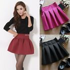 New Women's High Street Mini skirt party skirt high waist pleated B20E