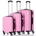 3Pcs Luggage Travel Set Bag w TSA Lock ABS Trolley Spinner Carry On Suitcase