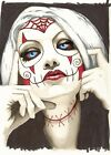 Spyder Baby by Shayne Bohner Woman Day of the Dead Tattoo Mask Canvas Art Print