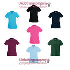 Womens Fruit Of The Loom Lady-Fit Premium Polo ladies t-shirt - xs s m l xl xxl